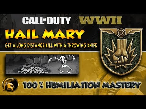 COD WW2 - (HAIL MARY) Calling Card Challenge - How To Unlock Humiliation Mastery Card