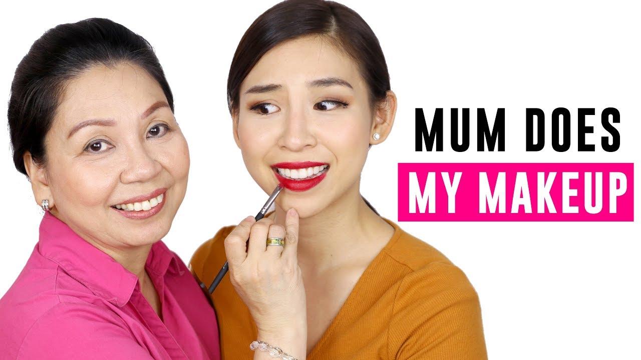 Mum Does My Makeup 😅 | Mẹ Trang Điểm Cho Mình