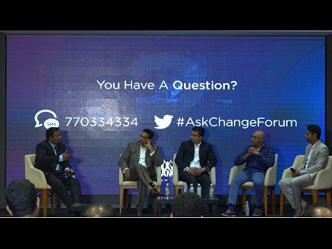 Moderation of Panel - Chandika Hathurusingha , Sangakkara, Supun & Kishu Gomes - Dialog Change Forum