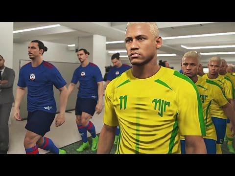PES 2017 - Team Neymar Vs Team Ibrahimovic - PS4 Gameplay HD