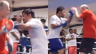 (WOW!) PACQUIAO EXPLOSIVE AND STILL FAST AS LIGHTNING; LIGHTS UP THE MITTS AHEAD OF HORN CLASH