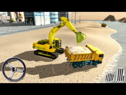 River Sand Excavator Simulator 3D - Construction Truck Driving - Android GamePlay