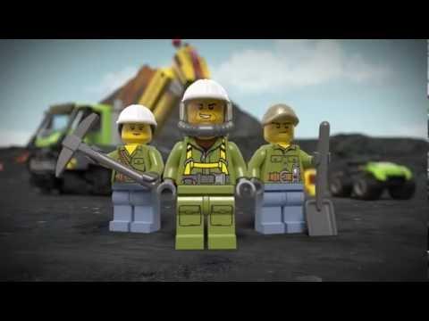 Конструктор LEGO City (Лего Сити) «Вездеход исследователей вулканов»
