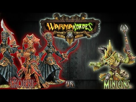 Warmachine & Hordes - Skorne (Makeda 3) vs. Minions (Rask) - 75pt Battle Report
