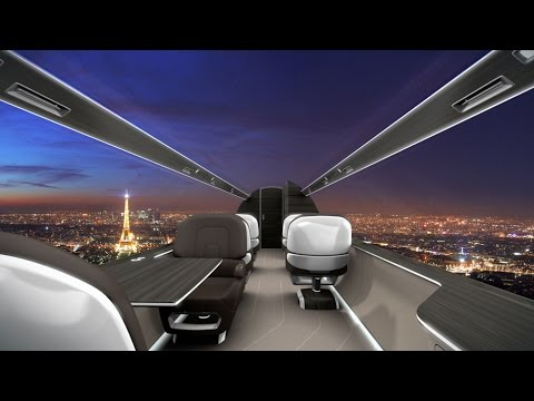 IXION Windowless Jet Concept By Technicon Design, Windowless Airplane Concept