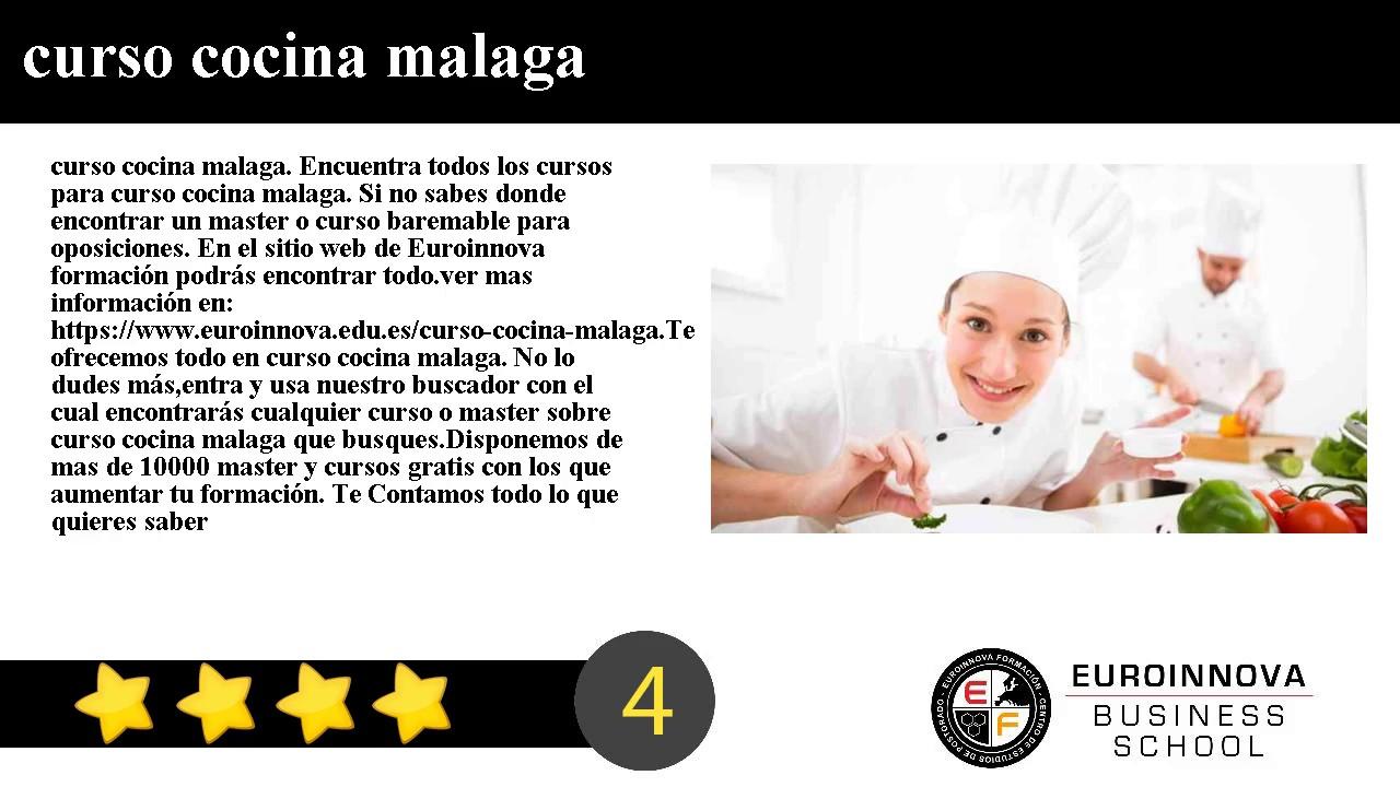 Cursos De Cocina En Malaga | Curso Cocina Malaga Youtube