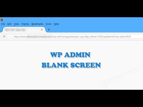 How to fix a Blank WordPress Admin Panel! [100% Working with PROOF!!!]