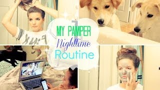 My Pamper Nighttime Routine | Summer 2014 | Casey Holmes