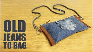 DIY No Sew Bag - Old Jeans to Bag