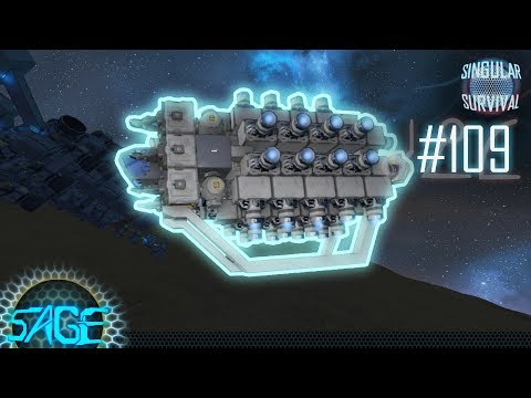 Space Engineers, Crashed ship repairs (Singular Survival #109)