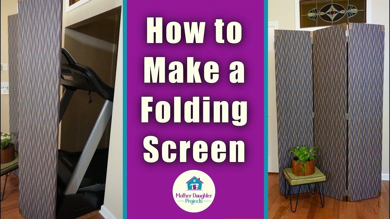 DIY 3-Panel Folding Screen Room Divider - YouTube