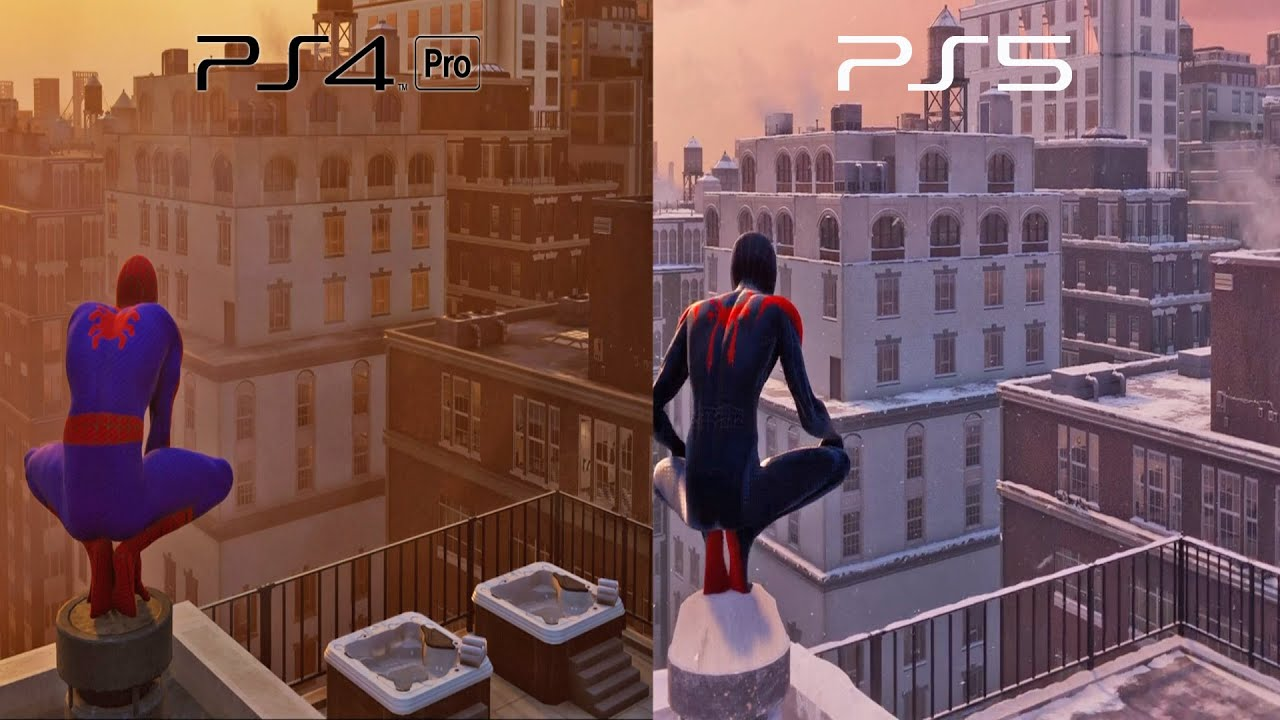 Spider-Man Miles Morales-Into the Spider-Verse Suits & Web Swinging Comparison | Combat New Game
