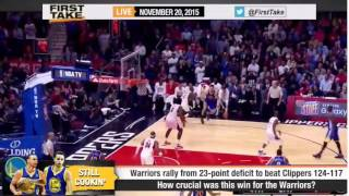 ESPN First Take  - Stephen Curry leads Warriors to defeat Clippers