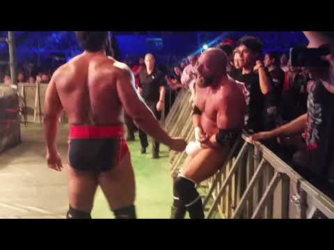 WWE Live Santiago 2017 - HHH VS Rusev - The New Day HHH Dance