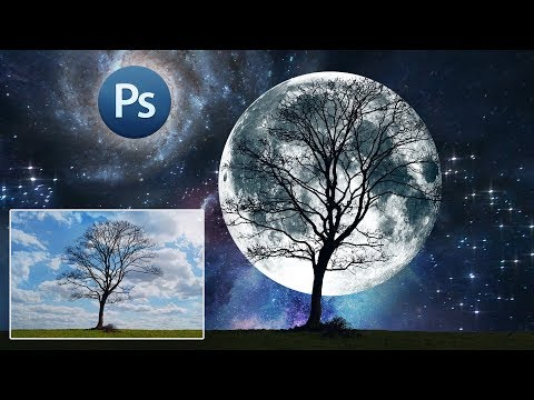 Как добавить Луну в Фотошопе