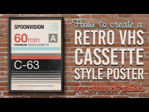 How To Create a Retro VHS Cassette Style Poster Design in Illustrator