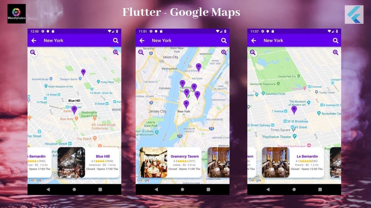 Flutter Tutorial - Flutter Google Maps
