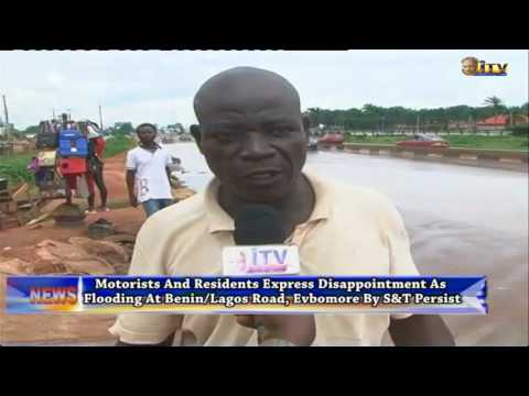Motorists express disappointment as flooding at Benin/Lagos Road persist