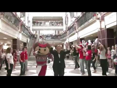 Ohio State Line Dance RE-EDIT  ( OSU Flash Mob )