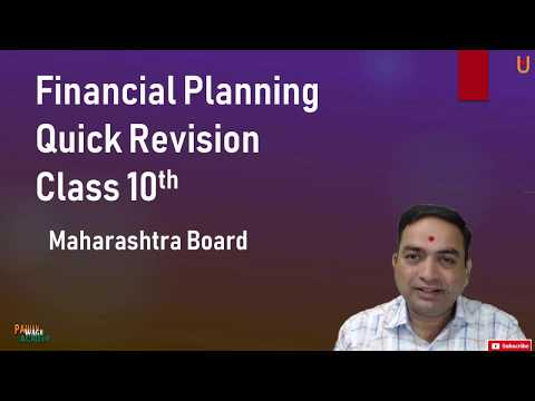 Financial Planning Quick Revision Class 10th Maharashtra Board New Syllabus