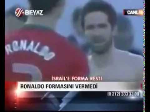 C  Ronaldo'dan İsrail'e Forma Resti C. Ronaldo jersey Israel Restu