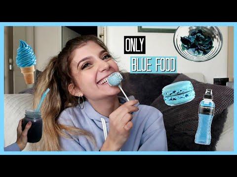 Τρώω ΜΟΝΟ μπλε φαγητά για 24 ώρες | katerinaop22