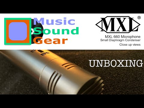 MXL 606 Unboxing Small Diaphragm Condenser Microphone. Close up views