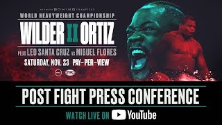 Wilder vs Ortiz II - Post Fight Press Conference FULL EVENT