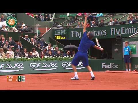 Roland Garros 2014 Monday Highlights Djokovic Sousa