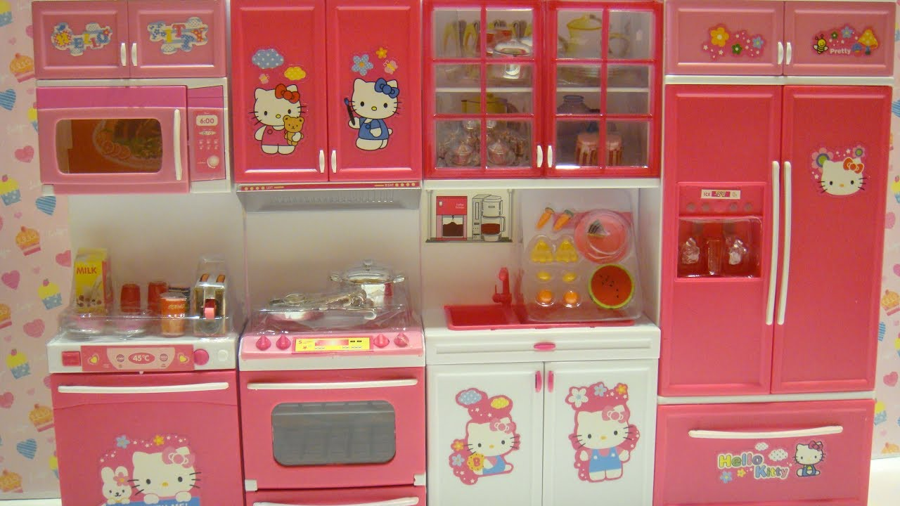 Barbie Kitchen Playset Faucet With Sprayer Hello Kitty 豪華廚房組 莉卡娃娃丽佳娃娃licca 玩具套装拆封过家家doll House 芭比娃娃リカちゃん