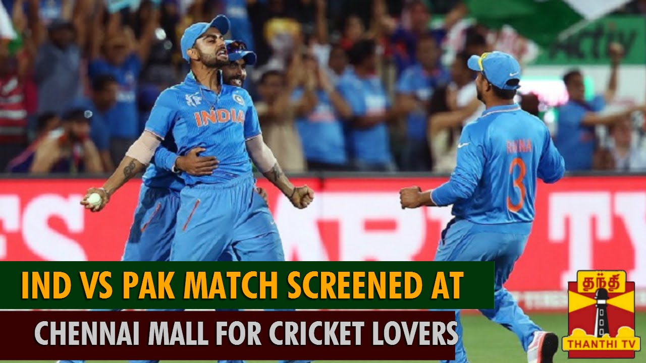 ICC Cricket World Cup 2015 : India Vs Pakistan Match Screened at Chennai Mall for Cricket Lovers