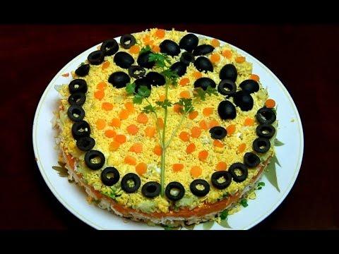 Салат МИМОЗА НЕВЕРОЯТНО ВКУСНЫЙ!!! Очень вкусный салат для праздников.из YouTube · Длительность: 7 мин24 с