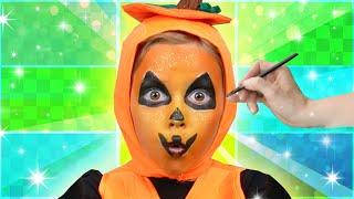 SPOOKY Jack-O-Lantern Face Paint! | Funtastic Playhouse!