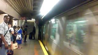 R160B (Q) Train @ church ave via express track