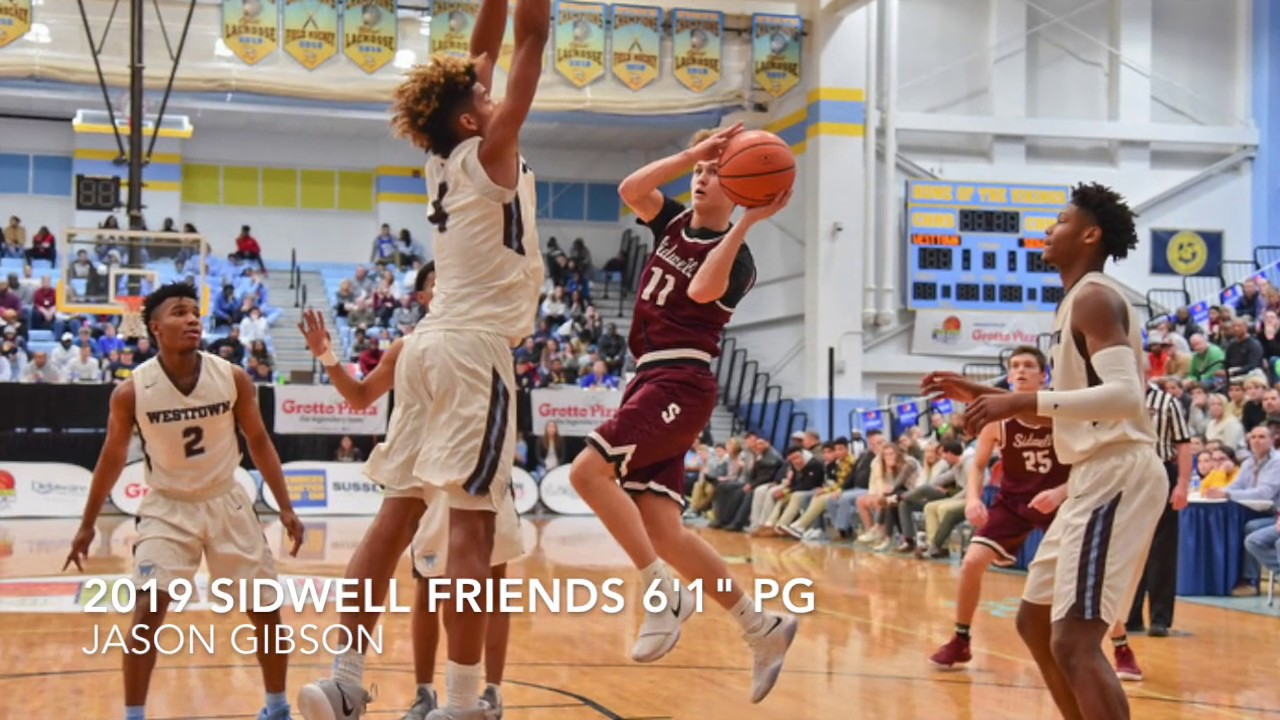 "2019 6'1"" Sidwell Friends PG Jason Gibson ELITE 3-pt Shooter"