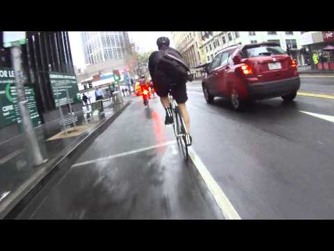 Driver And Cyclist In Melbourne - It's A Road Not A F**king Bike Lane (WQS 386)