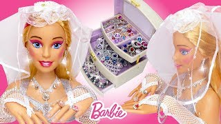 Giant Barbie Doll Wedding Makeover 👰🏼 Eyeshadow Lipstick, Nail Polish and Jewelry for Styling Head