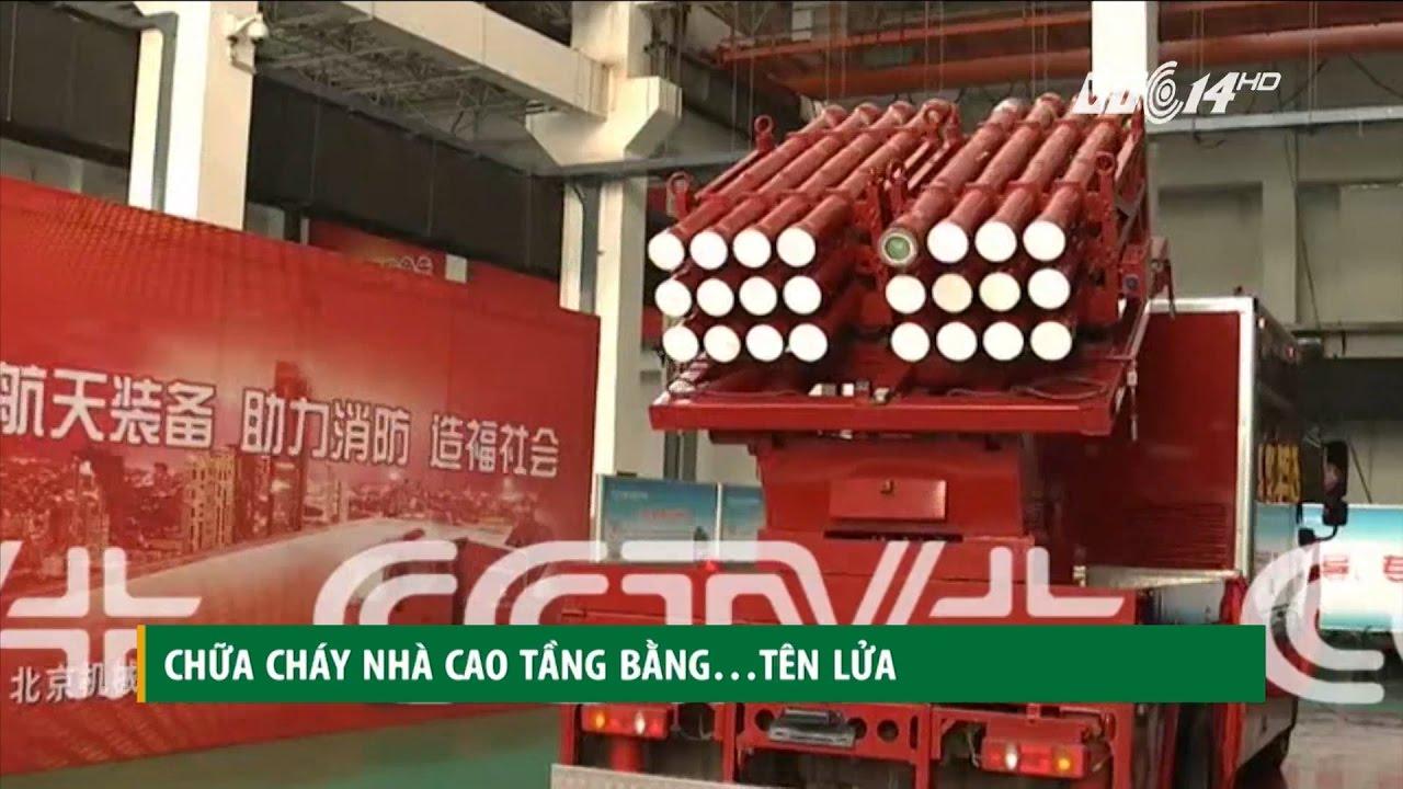 (VTC14)_Chữa cháy tòa nhà cao tầng bằng… tên lửa