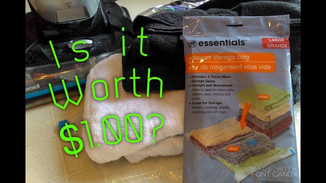 Is It Worth 1 Vacuum Storage Bags Dollar Tree