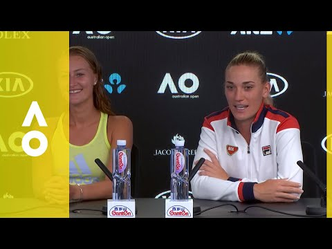 Babos/Mladenovic press conference (F) | Australian Open 2018