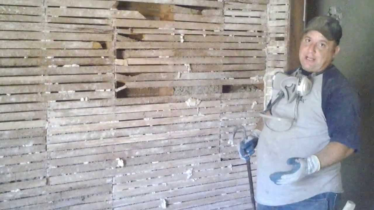 Diy How To Remove Lath And Plaster Part 2 Lath Youtube