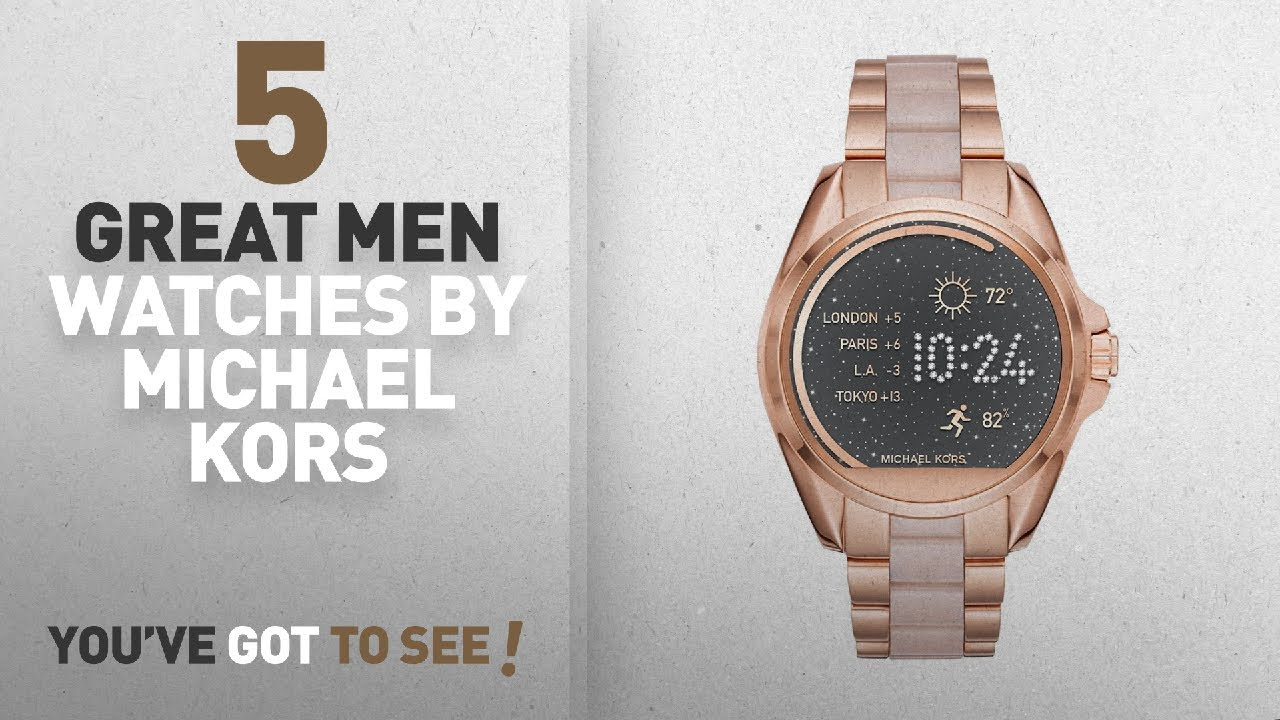 9183124e961c Top 10 Michael Kors Men Watches   Winter 2018    Michael Kors Access  Touchscreen Rose Gold Acetate