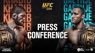 UFC 254: Pre-fight Press Conference