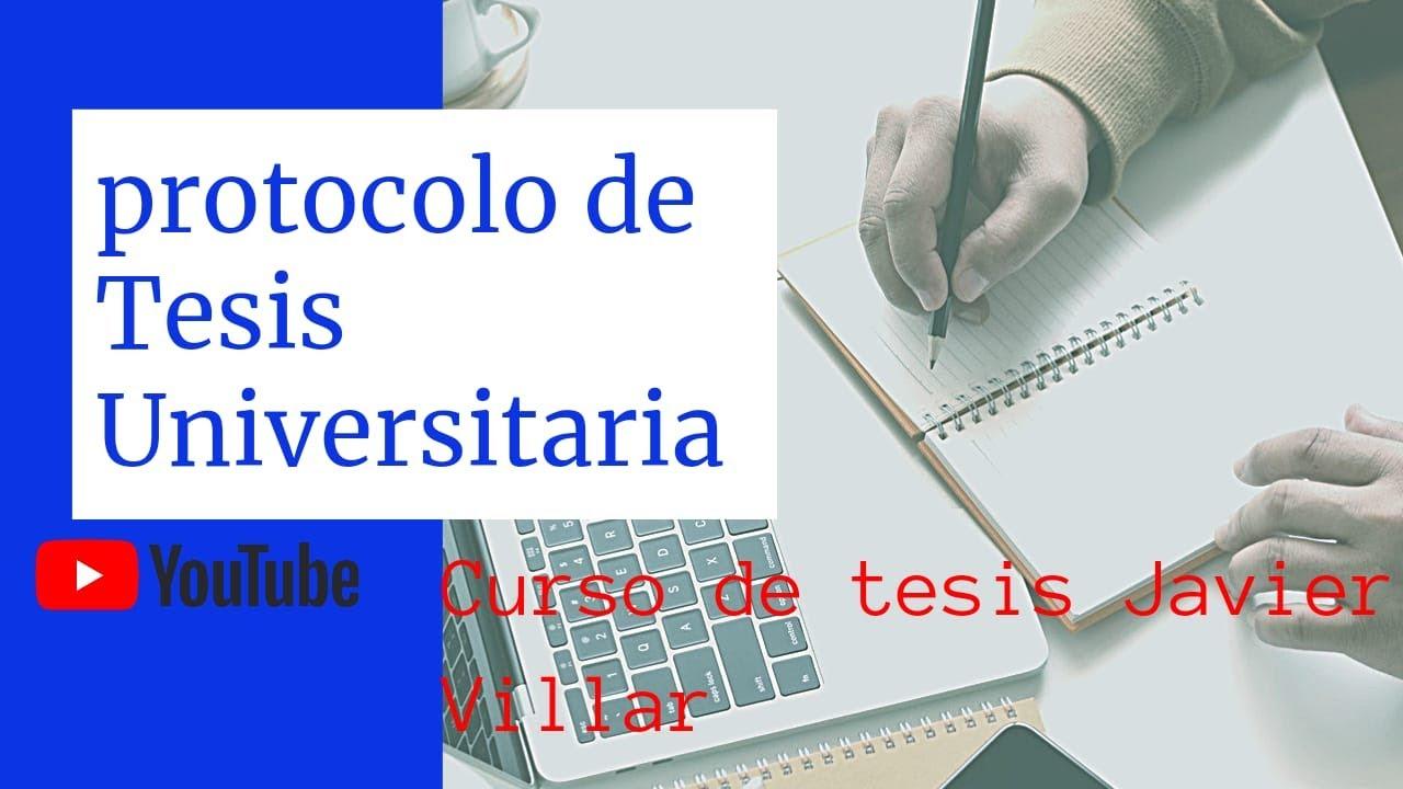 Análisis de un Protocolo ( Proyecto)  de Tesis de una Universidad.