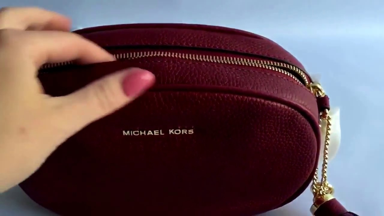 Сумка MICHAEL KORS Ginny Medium Leather Crossbody - YouTube bff3e44c760