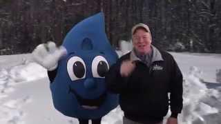 Snow In Maine 2015 - David Deschaine And Rain Drop