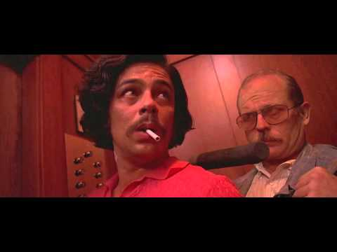 Fear and Loathing in Las Vegas. (Elevator scene) HD