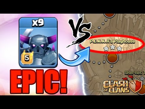 Clash Of Clans | PEKKA POWER! | Max Pekka's Vs Pekka's Playhouse! | OVER POWERED!