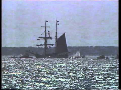 First Fleet arrive in Jervis Bay - 9 News Report 1988
