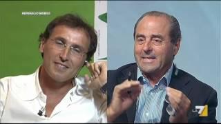 Antonio Di Pietro, Giuliano Ferrara, Marco Travaglio - La grande rissa - Bersaglio Mobile 27/08/12